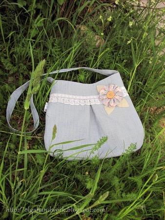 Фото. Летняя сумка из льняной ткани. Автор работы - *Apple*
