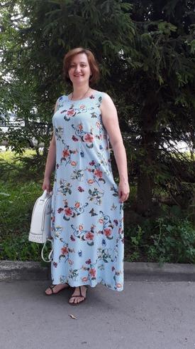 Фото. Платье на жару. Время отшива  - 2 часа. Самые простые способы и самый простой крой.