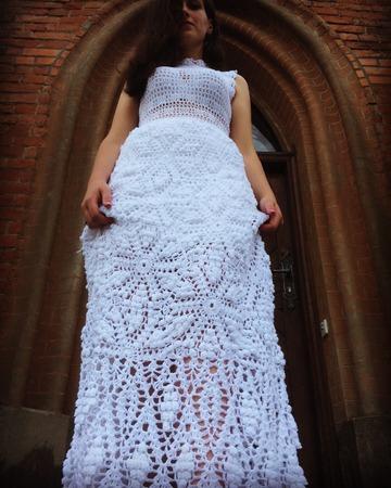 летний зефир белоснежное платье с шишечками