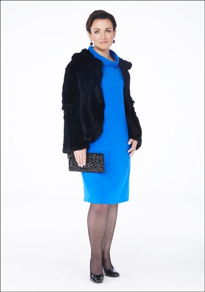 Комплект №3 . Платье – Premium. Манто – City. Туфли и сумка – Salamander