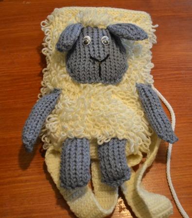 """Фото. Рюкзачок Овечка"""" для дочкиных вещей в детском саду.  Автор работы - Lana All"""