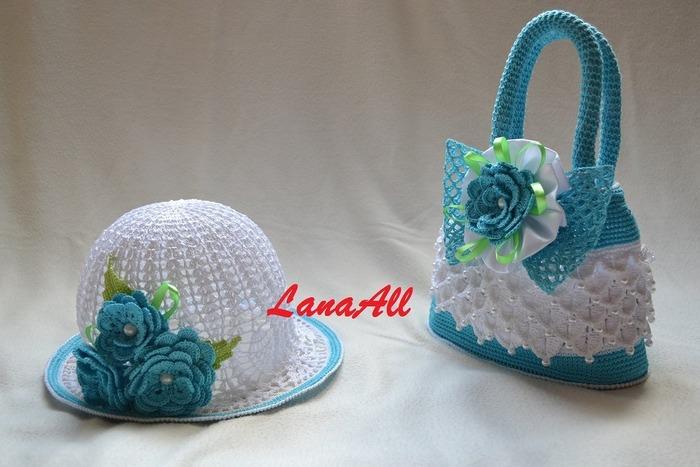 Фото. Летние аксессуары для маленьких модниц. Как и положено - шляпка и сумочка.  Автор работы - Lana All