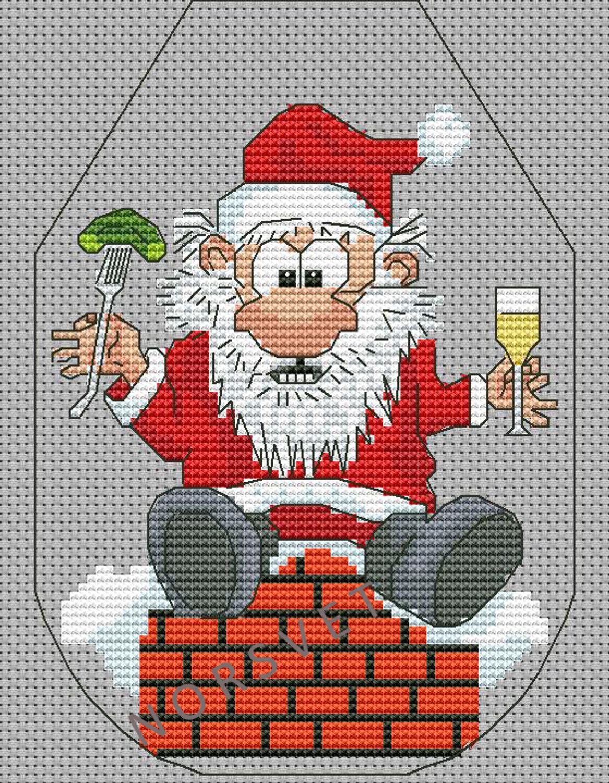 Схема вышивки крестом фартук новогодний фото 297