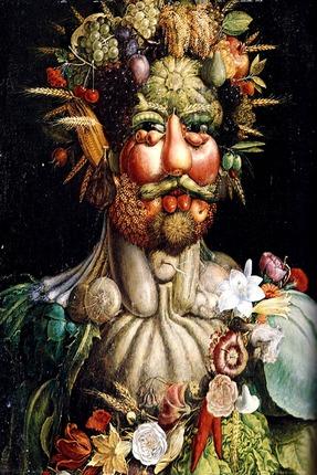 """Фото. Джузеппе Арчимбольдо """"Портрет императора Рудольфа II в образе Вертумна"""", 1590. Замок Скоклостер, Стокгольм"""