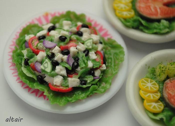 Фото. Предлагаю на обед салат с рыбкой.  Автор работы - Miranda