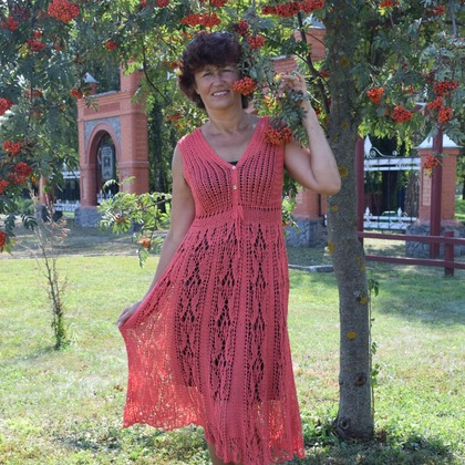 Фото. Платье Сицилия, в рамках тестирования по дизайну Татьяны Чистяковой. .  Автор работы - Svetlahok 65