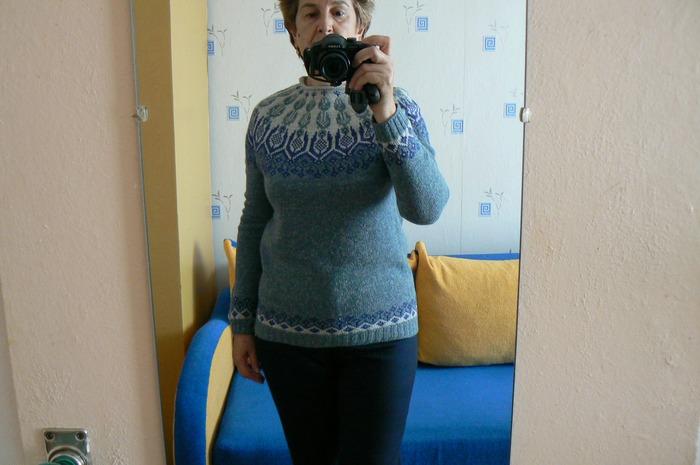 Фото. Лопапейса из твидовых ниточек Frisby.  Автор работы - Natal ka