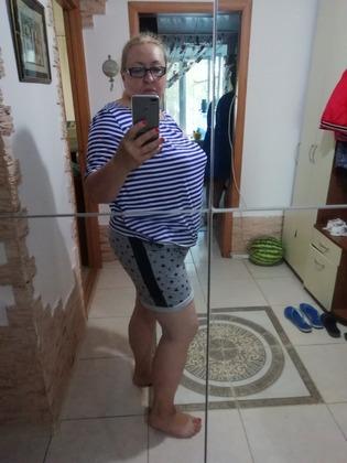 Фото. Футболка тельняшка и шорты.  Автор работы - Aleninka