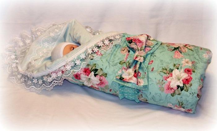 Фото. Комплект на выписку - обалденное одеяльце.