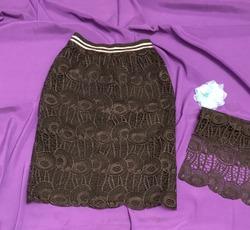 9e2dbde1e47 ... курсе Бурда КРУЖЕВНАЯ ЮБКА Все юбки в двойном экземпляре- себе и  дочери- абсолютно одинаковые- из одного отреза получается 2 юбки- 2 юбки на  подвязе