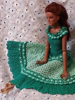 Фото. Романтичная куколка Тоннер в новом платье. Автор работы - Елена_Бор