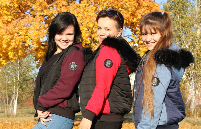 """Фото. """"Романтика осени"""" - куртки для всей семьи. Автор работы - cvetok1977"""