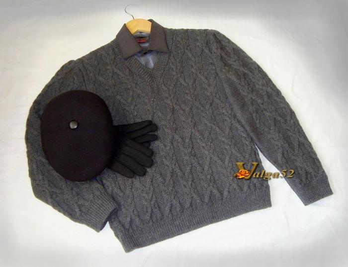 Фото. Пуловер цвета маренго. Автор работы - Valga52