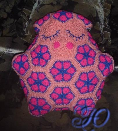 вязание игрушек из мотивов африканский цветок