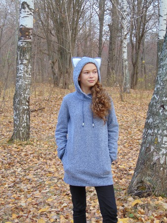 Фото. Толстовка-худи для дочки. Футер 3-х нитка.   Автор работы - Салампи