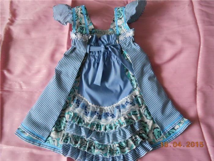 Фото. Детское платьице  из любимой рубашки.  Автор работы - belohveyika