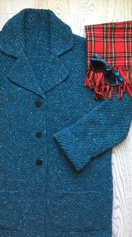 Фото. Пальто Jacqueline by Natalia Aksyonova. Прекрасный продуманный паттерн, сама б не решилась сшивное пальто вязать.