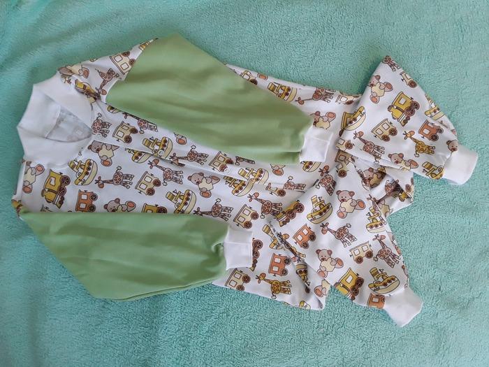Фото. Внучке  пижама-слитник из интерлока. Автор работы - Olga-Sh