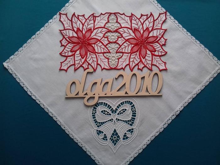 Фото. Салфетка, машинная вышивка. Автор работы - olga201076