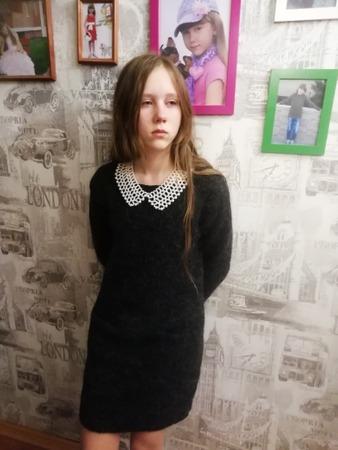 Фото. Платье с карманами. Пряжа Альпака Ализе. 450гр. Спицы 4.  Автор работы - PolinaM