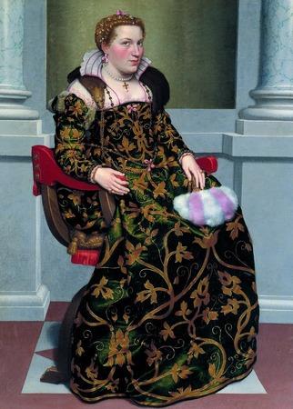 """Фото. Джованни Баттиста Морони (1523-1578)  """"Портрет Изольды Бримбати Грумелли""""."""