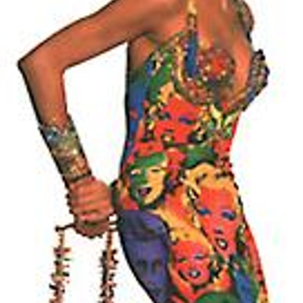 Джанни Версачи. Платье в стиле поп-арт.