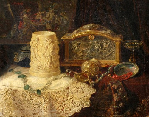 """Фото. """"Натюрморт со старинными часами"""", Леа Рейнхарт."""