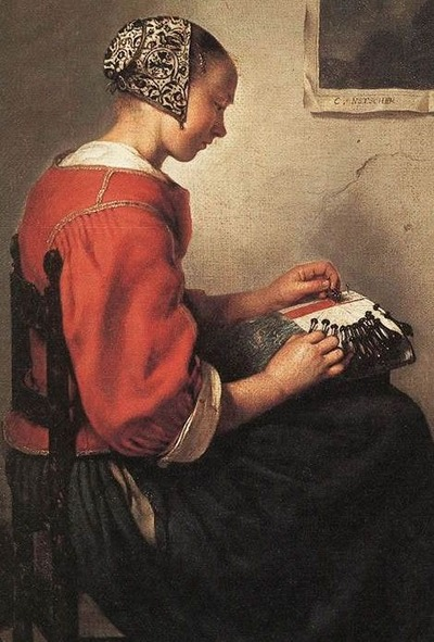 Фото. Caspar Netscher (1639-1684): The Lace-Maker,1662