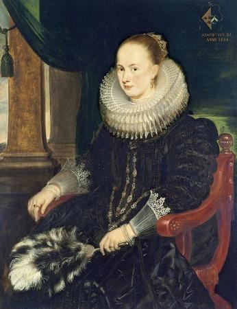Фото. Корнелис Де Вос (1584–1651). Портрет Антонии Канис.