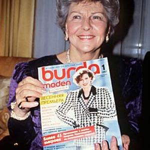 Энне Бурда с первым выпуском Burda Moden на русском языке. 8 марта 1987 перестройка началась...