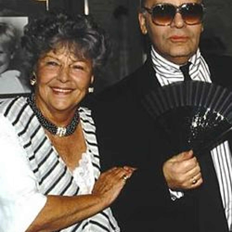 Энне Бурда и Карл Лагерфельд.