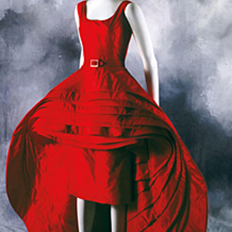 "Фото 24. Скульптурное платье ""Bello"" (""Девять юбок""). Красная шелковая тафта. 1956 г."