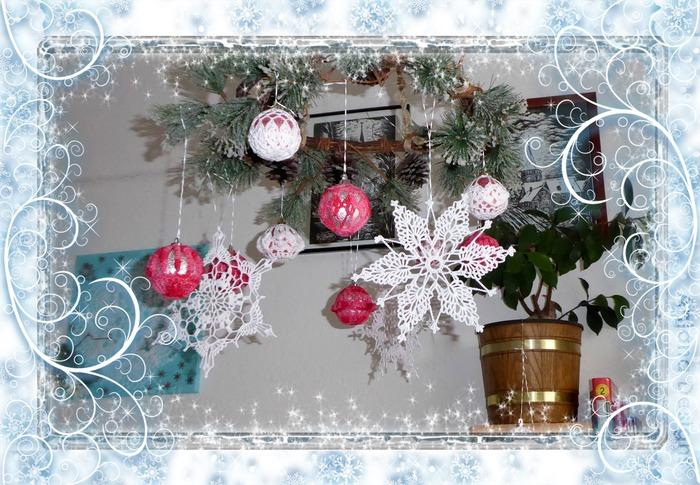 Фото. Вязаные снежинки.  Автор работы - Olga_Mt