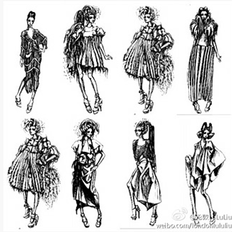 Творческие эскизы для коллекции Lulu Liu