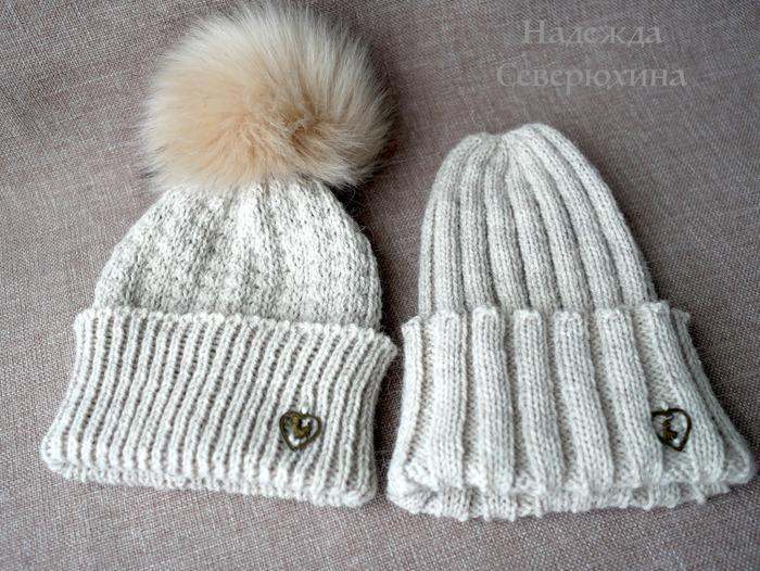 Фото. Две простенькие шапули с отворотом. Автор работы - Северюжка