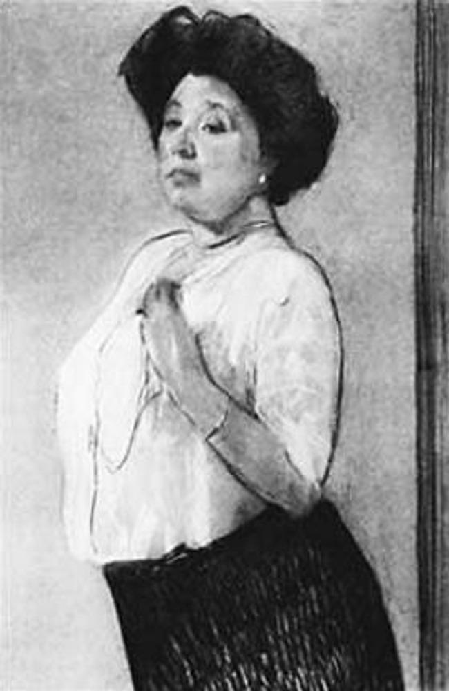 Портрет работы В.Серова. 1911 г. Надежда Петровна Ламанова.