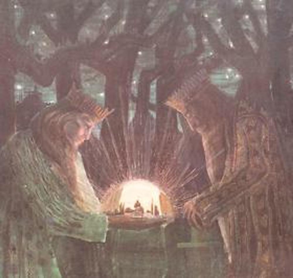 """Микалоюс Константинас Чюрлёнис, 1909 год. """"Сказка о королях""""."""