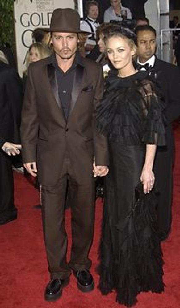 Фото. Джонни Депп и его жена, актриса Ванесса Паради.