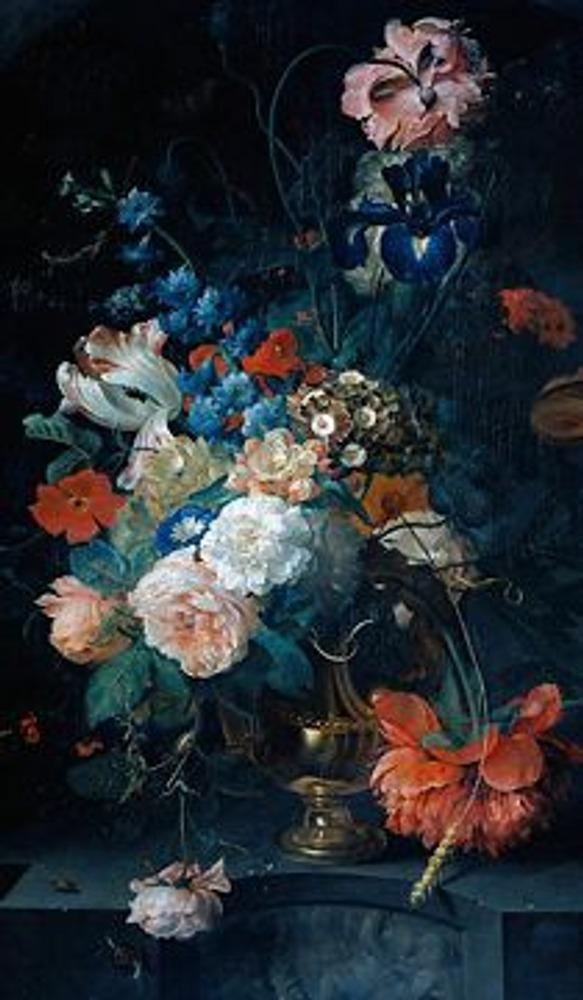 Фото. Конрат Ропель. Ваза с цветами. 1721.