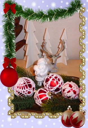 Фото. Вязаные шарики в подарок.  Автор работы - Olga_Mt