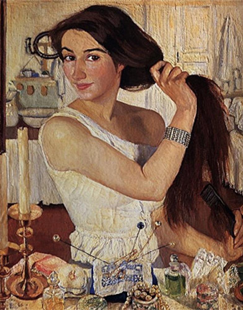 """Зинаида Серебрякова """"За туалетом. Автопортрет"""". 1909"""