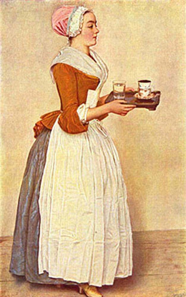 """Жан Этьен Лиотар """"Шоколадница"""", 1744-1745."""
