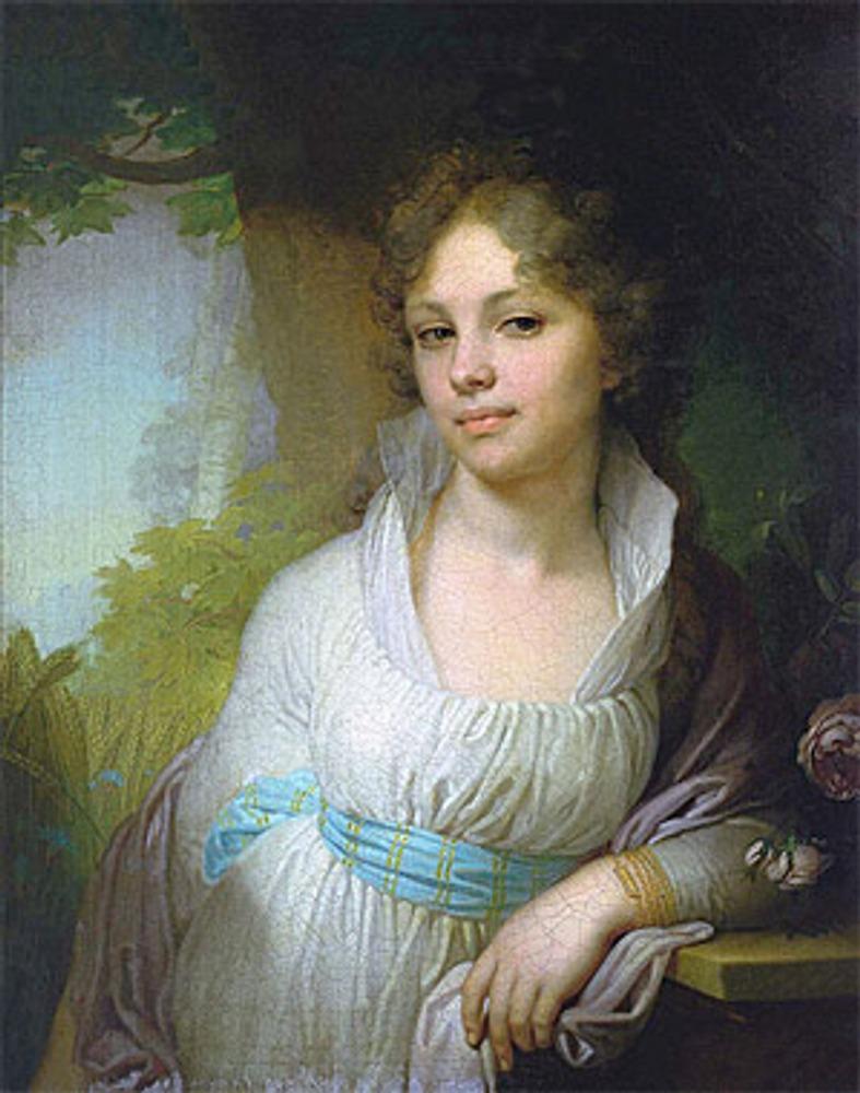 """В.Л. Боровиковский """"Портрет Лопухиной М.И"""", 1797 г."""