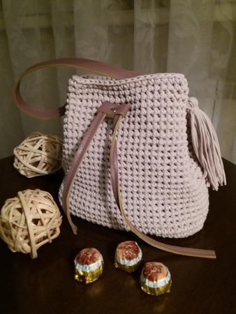 Фото. Последнее увлечение - сумки из трикотажной пряжи.