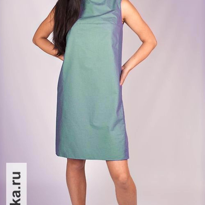 Прямое платье без рукавов сшить