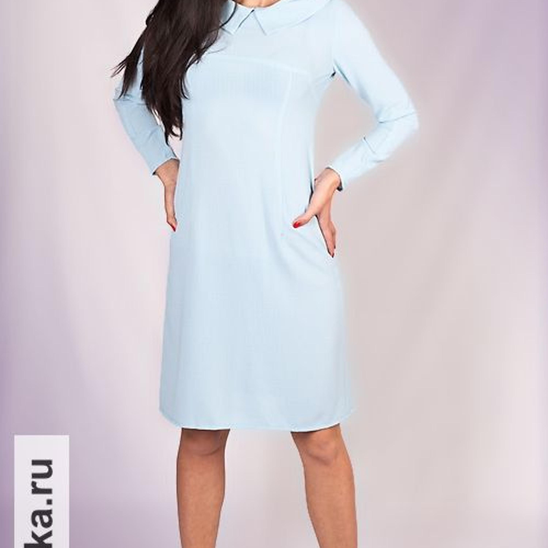 """Платье. Burda 11/1966. Самая классическая классика из 60-х! Платье по фигуре из ткани с вафельной структурой длиной до коленей обладает узкими рукавами 7/8, кокеткой по линии груди, вытачками-рельефами и отложным воротником. Застежка на """"молнию"""" скрывается в среднем шве спинки."""