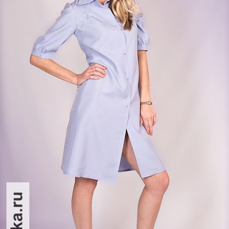 b630116150d Платье. Burda 3 1973. Платье рубашечного покроя со сквозной застежкой  сверху донизу имеет