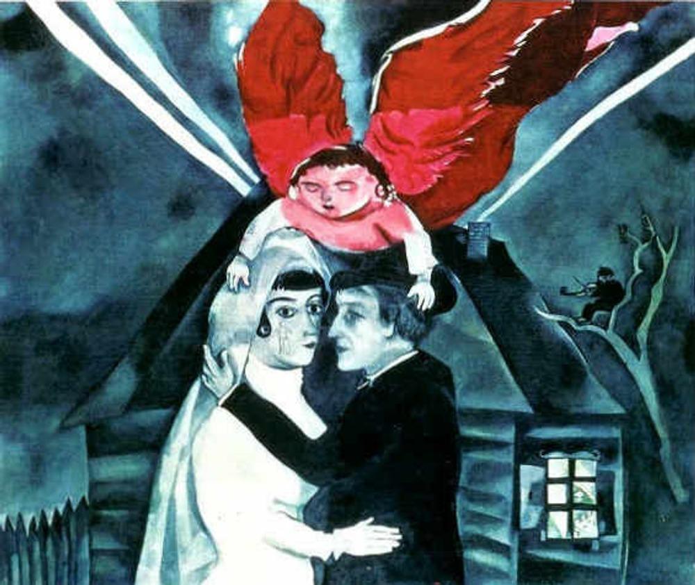 "Марк Шагал ""Свадьба"". 1918. Государственная Третьяковская Галерея, Москва."