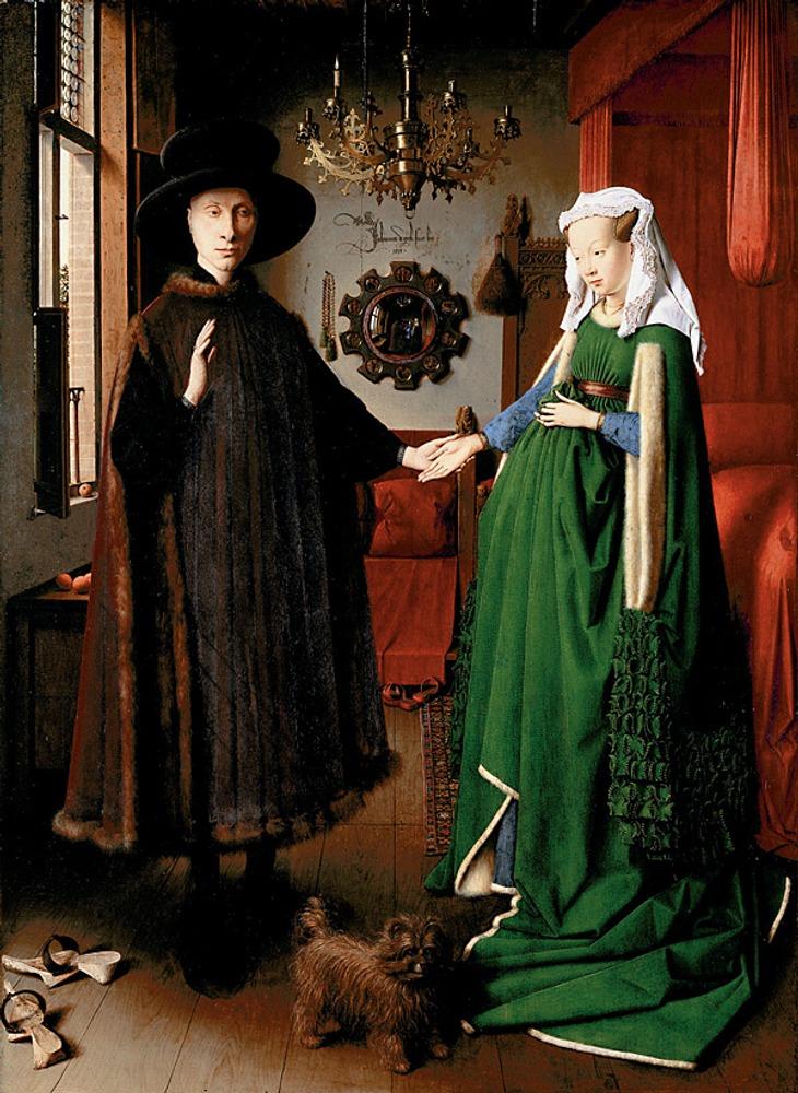 """Ян ван Эйк """"Портрет четы Арнольфини"""". 1434. Национальная галерея. Лондон."""