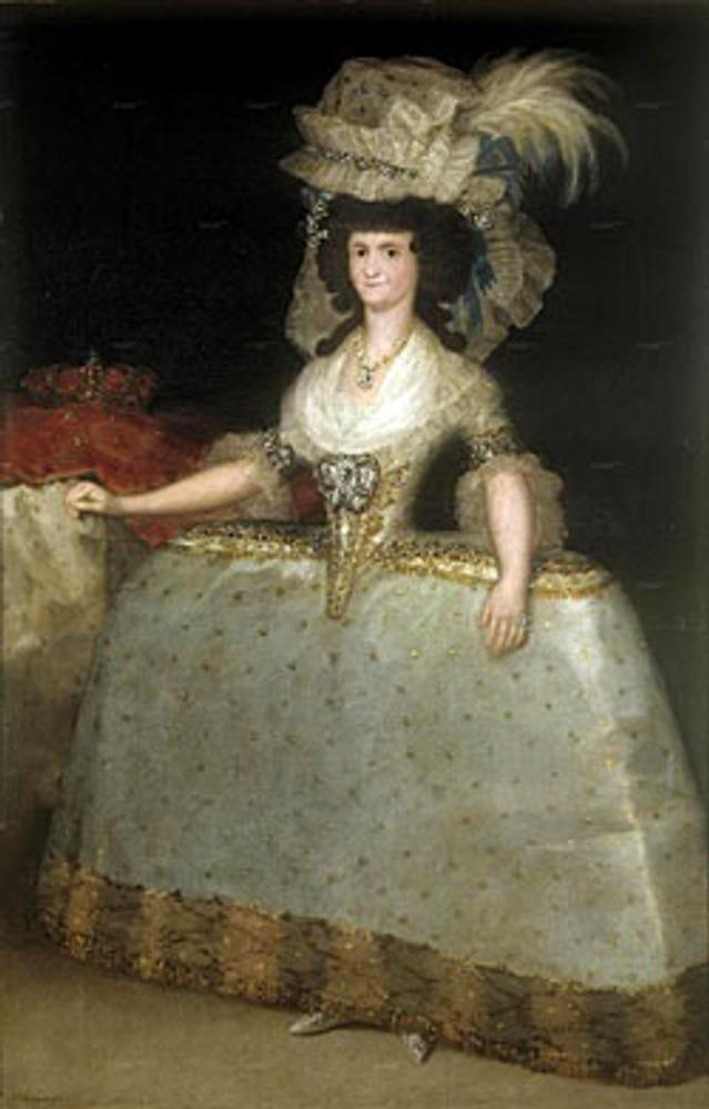 "Фото. Франсиско Гойя. ""Королева Мария Луиза в турнюре (панье)."" ок.1789"